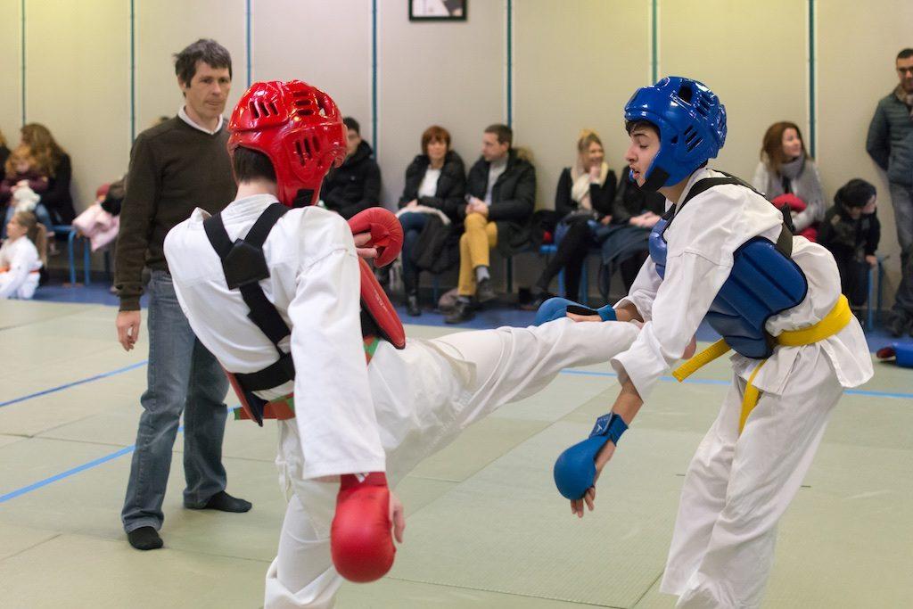 Compétition de karaté à l'Ecole Yonnaise Karaté