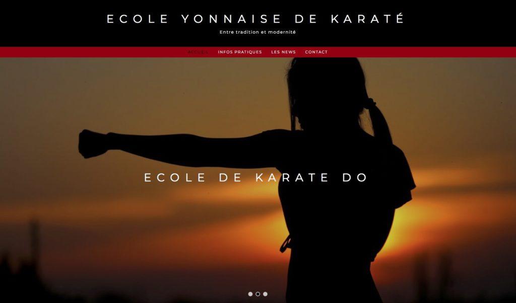 Nouveau site de l'Ecole Yonnaise de Karaté