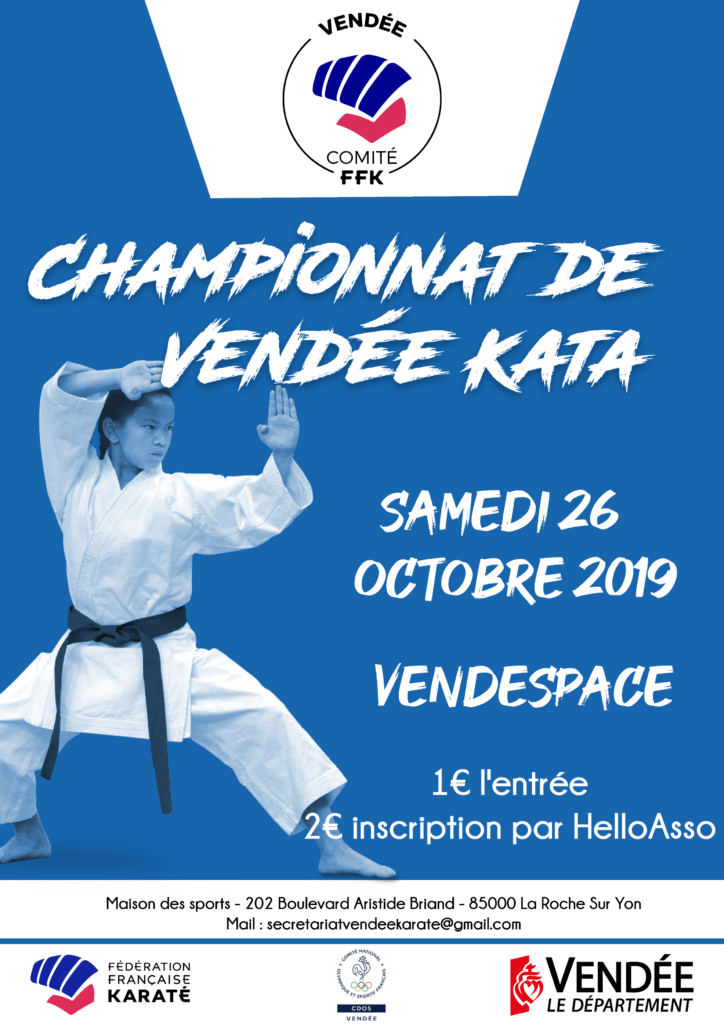 Championnats départemental Kata, Vendée