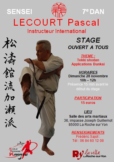 Stage sensei Lecourt 28 novembre 2021